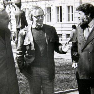 С Петър Берон, кандидат за вицепрезидент в двойка с Жорж Ганчев, 1992 г.