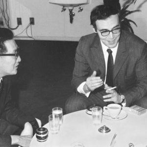 С професор Накамура, японски траколог и изследовател на античната история, в София 1970 г.