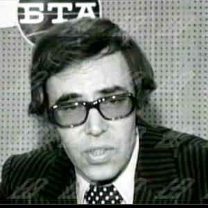 От студиото на Българска телевизия в БТА, 1977 г.