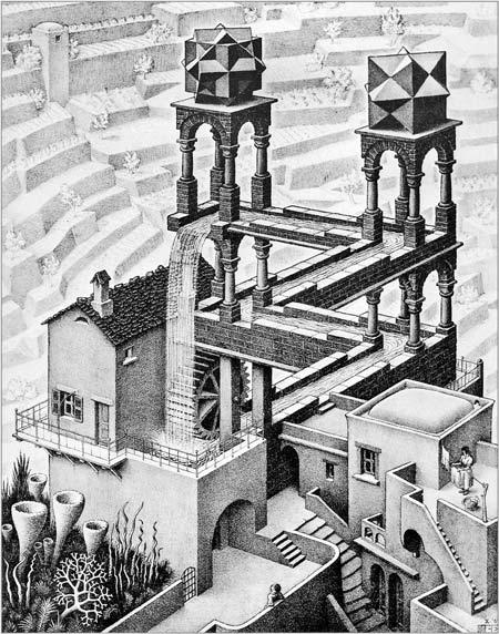 Графика от Мориц Корнелис Ешер.