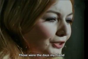"""Мери Хопкин, която прави популярен шлагера """"Those were the days my friend"""", кавър на руския романс """"Дорогой длинною"""" от началото на миналия век."""